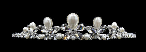 "Tiaras up to 1.25 "" #16564 - Butterfly Pearl Tiara with Combs"