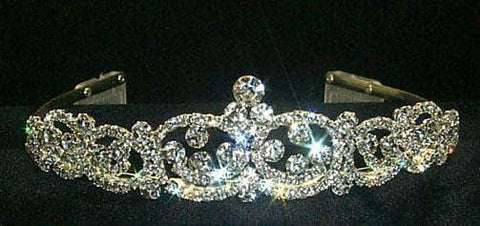 "Tiaras up to 1.25 "" Fancy Crystal Tiara - #11149"