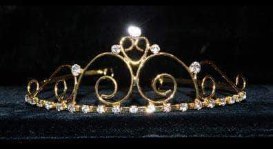 "Tiaras up to 1.5"" #14698G - Royalty Affair Wire Tiara - Gold Plated"