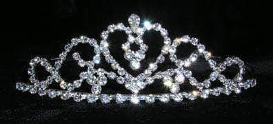 "Tiaras up to 1.5"" #14970 - Flowing Heart Tiara"