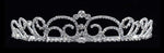 "Tiaras up to 1.5"" #16584 - Small Diamond Top Swirl Tiara with Combs - 1.5"""