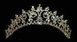 "Tiaras up to 1.5"" Gold Contoured Princess Tiara #11438G"