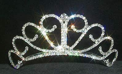 "Tiaras up to 2"" #12050 - Raised Princess Tiara"