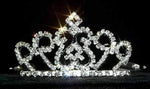 "Tiaras up to 2"" #13252 Wire Rim Diamond Top Tiaras"