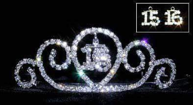 "Tiaras up to 2"" #13345 - Swirly - 15/16 Quinceañera /Sweet 16"