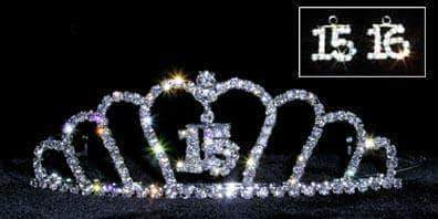 "Tiaras up to 2"" #13348 - Crown - 15/16 Quinceañera /Sweet 16"