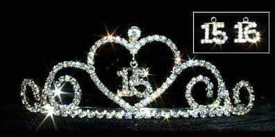 "Tiaras up to 2"" #13349 - Sweetheart - 15/16 Quinceañera /Sweet 16"