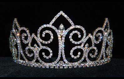 "Tiaras up to 2"" #13350 - Swirl Point Tiara"