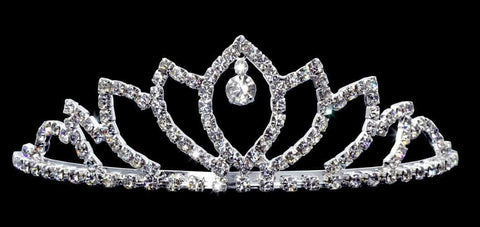 "Tiaras up to 2"" #14990 - Dangling Leaf Spread Tiara"