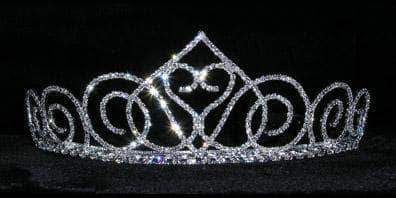 "Tiaras up to 2"" #15143 - Swooning Heart 2"" Tiara"