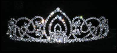 "Tiaras up to 2"" #15439 Living Orchid Tiara - 2"""