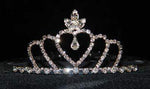 "Tiaras up to 2"" #15674 - Triple Heart Crown Tiara"