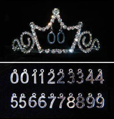 "Tiaras up to 2"" #15750 - All Years Celebration Tiara with Combs"