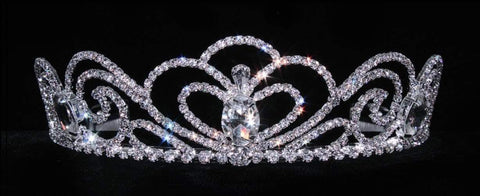 "Tiaras up to 2"" #16038 Sky Princess Tiara with Combs - 2.00"""