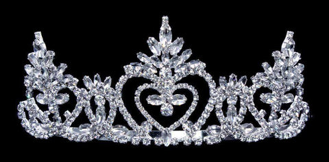 "Tiaras up to 2"" #16487 - Pageant Praise 2"" Tiara with Combs"