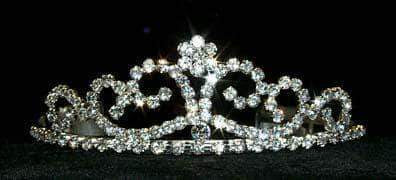"Tiaras up to 2"" Fines Waves Tiara #12581"