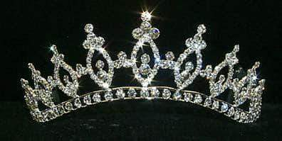 "Tiaras up to 2"" Graduated Marquis Tiara #11460"