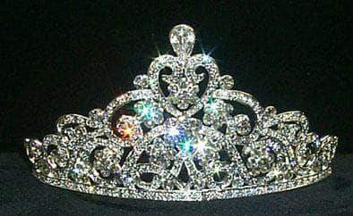 "Tiaras up to 3"" #11513 - Pave Crystal Tiara"