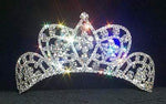"Tiaras up to 3"" #11868 Small Butterfly Cluster Tiara - Contoured Base"