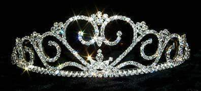 "Tiaras up to 3"" #12548 Rippling Heart Tiara"