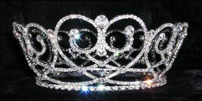 "Tiaras up to 3"" #13540 - Gated Hearts Crown"