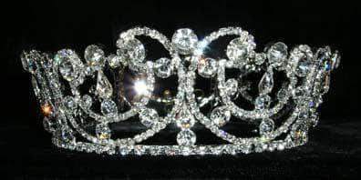 "Tiaras up to 3"" #13565 - Jewelled Wave Crown"