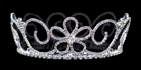 "Tiaras up to 3"" #13648 Floral Vines Small Crown"