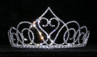 "Tiaras up to 3"" #15142 - Swooning Heart 3"" Tiara"