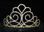 "Tiaras up to 3"" #15202G - Titan's Queen Tiara - 3"" - Gold Plated"
