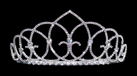 "Tiaras up to 3"" #15436 - Vaulted Ceiling Tiara with Combs - 2.5"""
