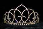 "Tiaras up to 3"" #15436G - Vaulted Ceiling Tiara with Combs - 2.5"" Gold Plated"
