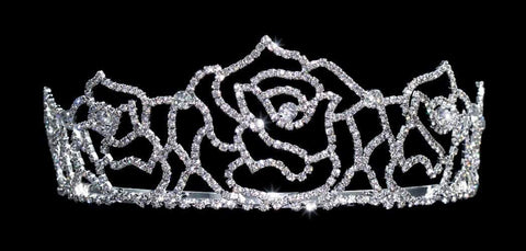 "Tiaras up to 3"" #15454 - Rose Tiara 2 1/8"""