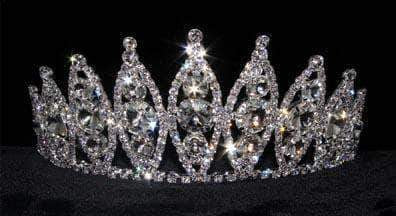 "Tiaras up to 3"" #15740 Rivoli Burst Tiara - 3"" Tall"