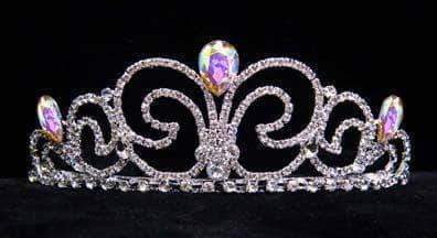 "Tiaras up to 3"" #16019 - Neptune Bride Tiara - AB"