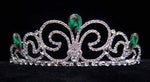 "Tiaras up to 3"" #16019 - Neptune Bride Tiara - Emerald"