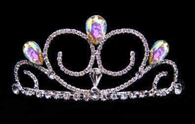 "Tiaras up to 3"" #16039AB - Gentle Breeze Tiara - AB"