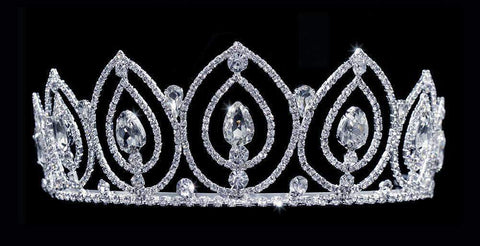 "Tiaras up to 3"" #16040 - Glacier Queen Tiara with Combs"