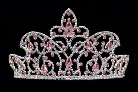 "Tiaras up to 3"" #16174 Caped Crown Rose and AB - 4"""