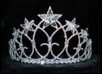 "Tiaras up to 3"" #16230 - Starred Vaulted Ceiling Tiara with Combs - 3"""