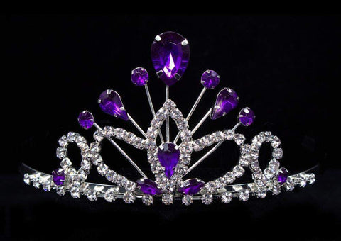 "Tiaras up to 3"" #16260amy- Maus Tiara 2.25"" - Amethyst"