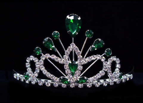 "Tiaras up to 3"" #16260em- Maus Tiara 2.25"" - Emerald"
