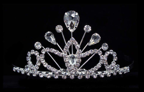 "Tiaras up to 3"" #16260xs- Maus Tiara 2.25"" - Crystal"