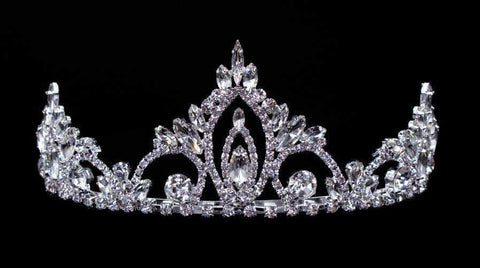 "Tiaras up to 3"" #16445 - Pageant Prime Tiara with Combs - 2.5"""