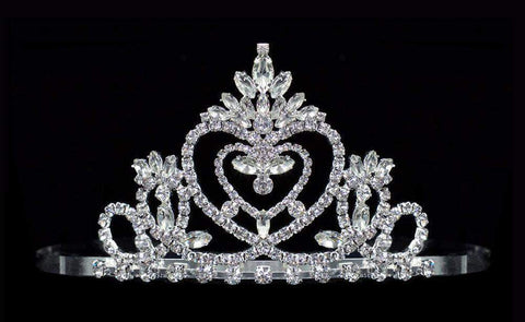 "Tiaras up to 3"" #16491 - Pageant Praise Tiara with Combs - 2.5"" Tall"