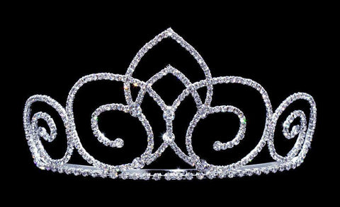 "Tiaras up to 3"" #16652 Butterfly Gate Tiara with Combs - 3"""