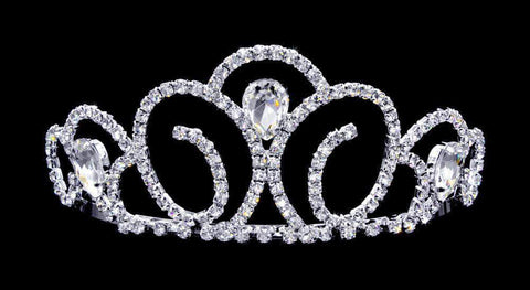 "Tiaras up to 3"" #16734 - Pears of Wisdom Tiara with Combs - 2.5"" Tall"