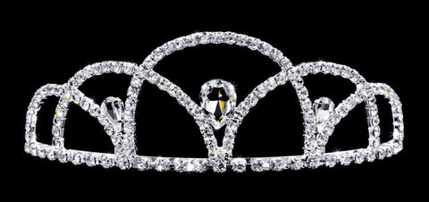 "Tiaras up to 3"" #16735 - Scalloped Pear Tiara - 3.5"""