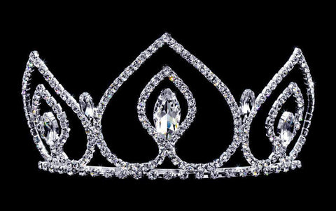 "Tiaras up to 3"" #16737 - Navette Peaks Tiara with Combs - 3"""