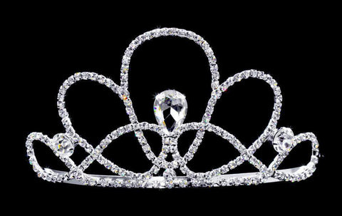 "Tiaras up to 3"" #16741 Seashell Tiara with Combs - 2.5"""