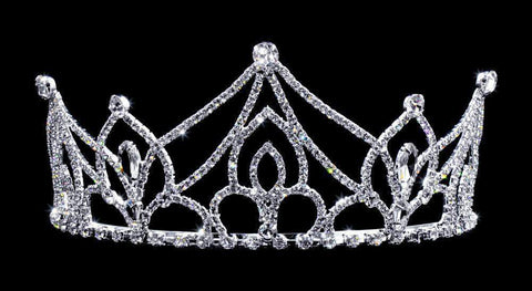 "Tiaras up to 3"" #16774 - Nethrland's Sun Princess with Combs - 2.75"""